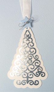 swirly christmas tree tag