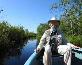 """Captain Erika Gates on the way to see the Zapata Wren and Zapata Sparrow - """"a happy adventure, thank you Maydiel!"""""""