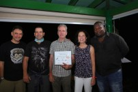Alejandro Llanes receives his certificate. (photo by Ernesto Reyes)