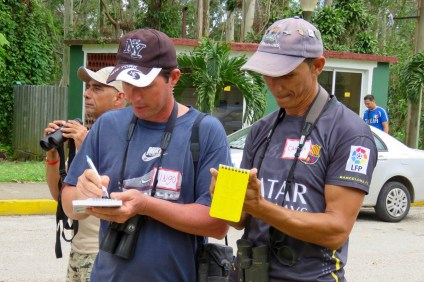 Two participants diligently taking notes on all the birds spotted. (photo by Lisa Sorenson)
