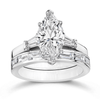Cubic Zirconia Rings | 2.5 Ct. Marquise 14K Wedding Set ...