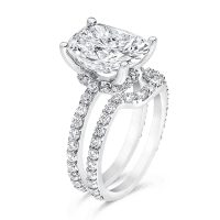Oval Cushion 5.0 Carat, 14K Wedding Ring Set