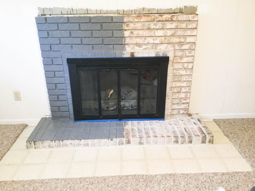 Paint Your Brick Fireplace In 2 Easy Steps Birkley Lane
