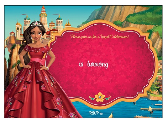 free princess invitation templates