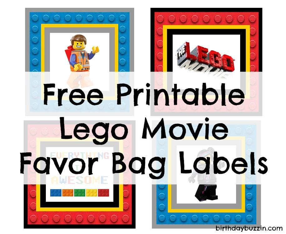 Free Printable Lego Movie Favor Bag Labels Birthday Buzzin