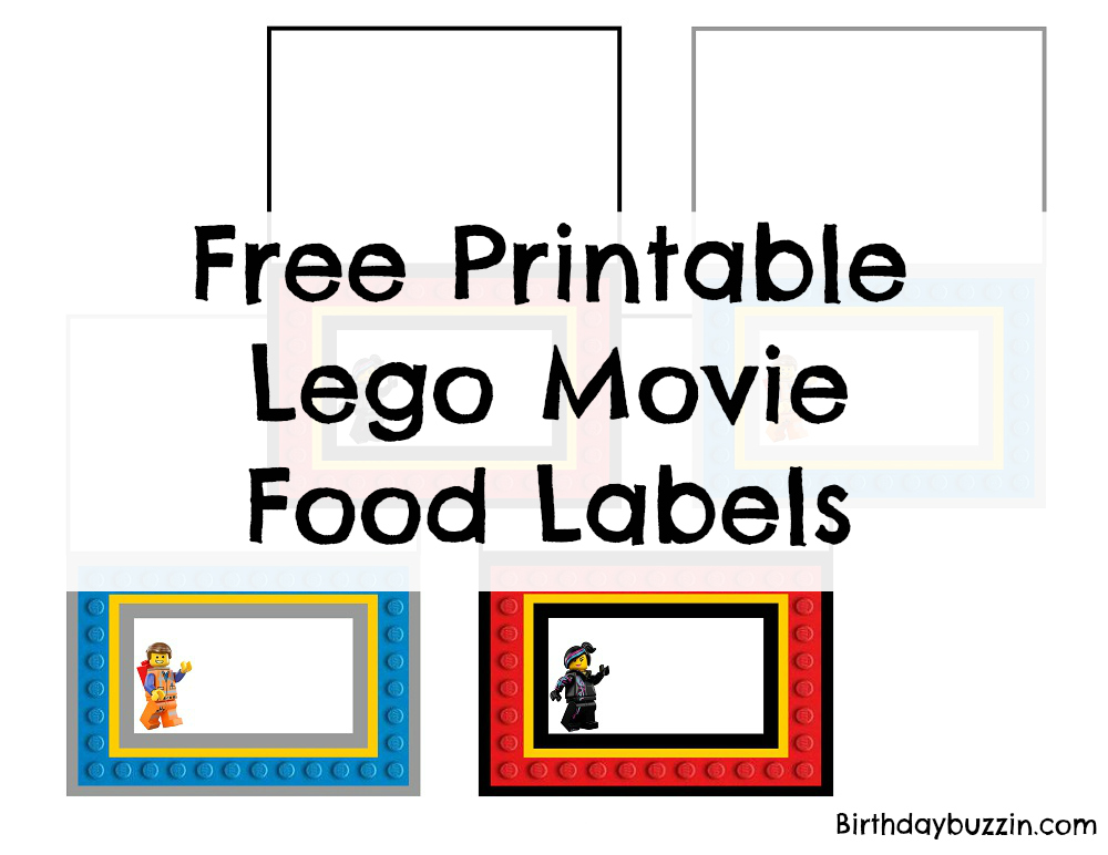 Free printable Lego Movie Food labels Birthday Buzzin