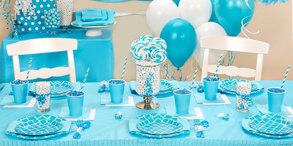 6 Ways to Add Style with Quatrefoils Birthday Express - blue and green birthday party