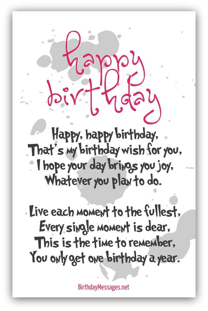 Happy Birthday Poems - Happy Birthday Messages - sample happy birthday email