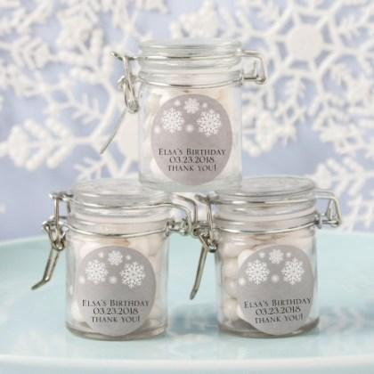 Personalized Glass Birthday Favor Jars