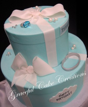 tiffany birthday party cake