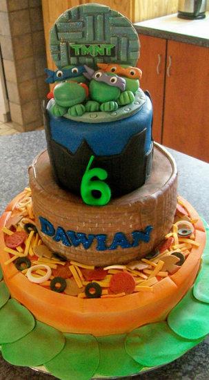 Teenage Mutant Ninja Turtle Birthday Party Ideas cake