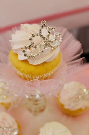 Bling Princess First Birthday Party little cupcakes