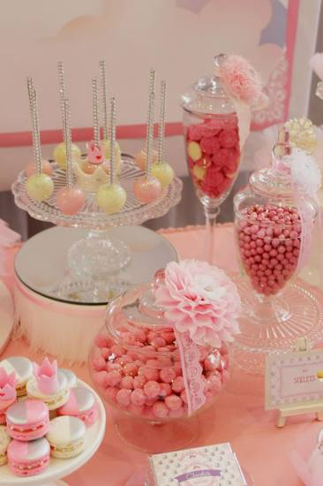 Bling Princess First Birthday Party treats