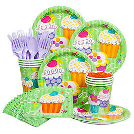 Cupcake Birthday Party Ideas neutral color