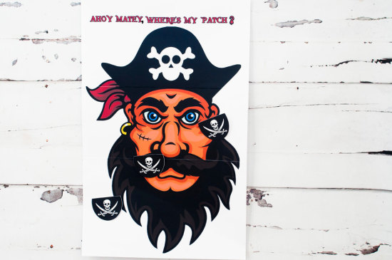 Pin The Patch On The Pirate Game, Boy Pirate Party Game, Kids Party Game, Pirate Party
