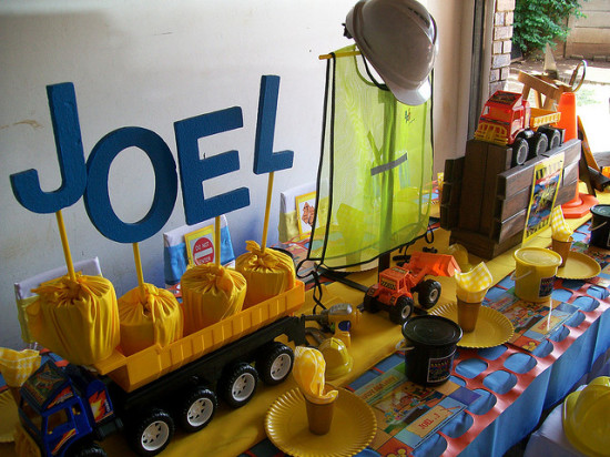 construction birthday party theme ideas