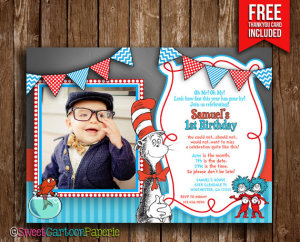 dr seuss invitation cat in the hat