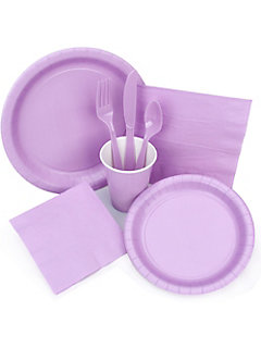 lavender fairy tableware