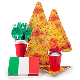 pizza birthday party tableware