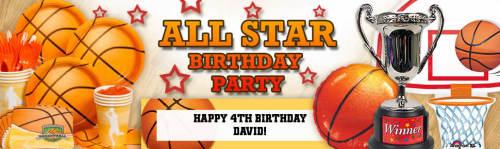 Basketball & Soccer Birthday Party Ideas all stars