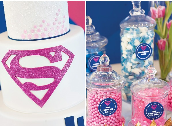 Supergirl Birthday Party in Pink Blue Birthday Party Ideas Themes