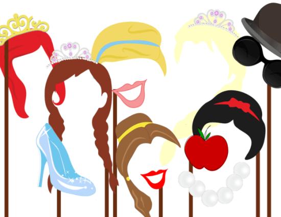 Disney Princess Photobooth Props