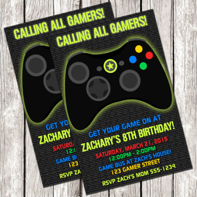 Video games party ideas birthday party ideas themes gamer invitation video game birthday party diy printable stopboris Choice Image