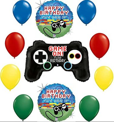Gamers Game On! It's Your Birthday Balloon Decoration Kit