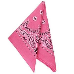 Hot Pink Paisley Bandanas