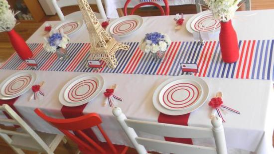 french themed table setting