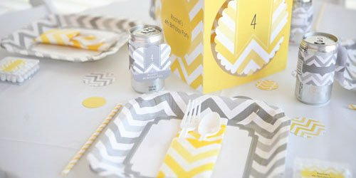 twins-Chevron-Yellow-Birthday-Party-Supplies