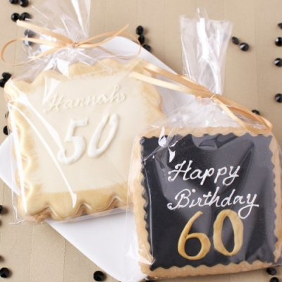 60th Personalized Birthday Cookies
