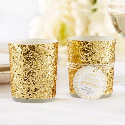 Gold Glitter Tea Light