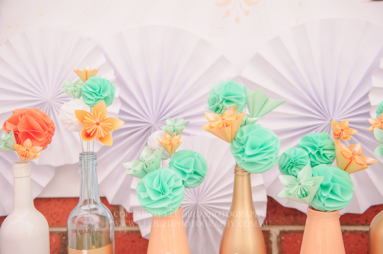 Peach Mint Circus Party decoration ideas