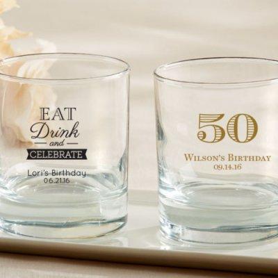Personalized Birthday Rocks Glass
