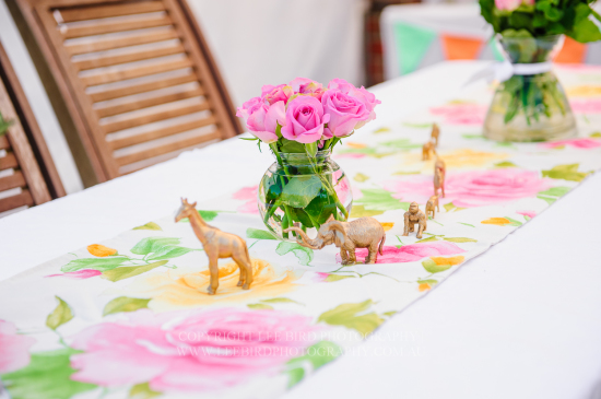 table setting for the theme