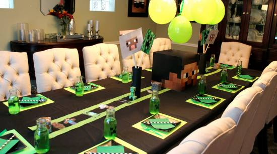 Minecraft creeper birthday party ideas