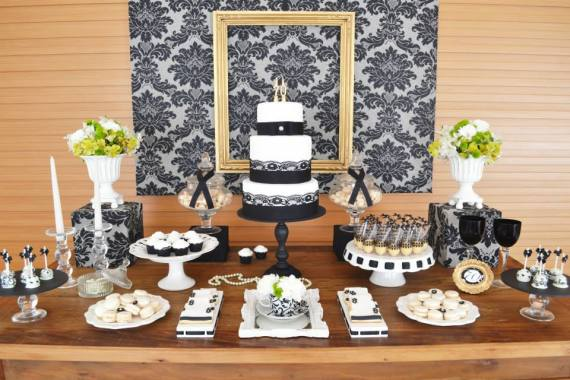 Gold black damask 70th birthday party birthday party for 70 birthday decoration ideas