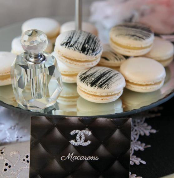 coco-chanel-inspired-birthday-party-macarons