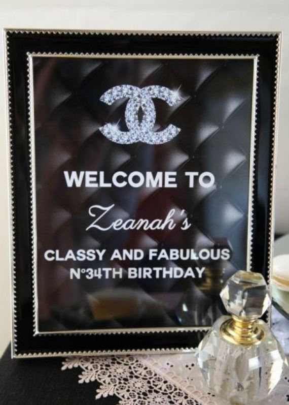 coco-chanel-inspired-birthday-party-welcome-sign-classy-fabulous