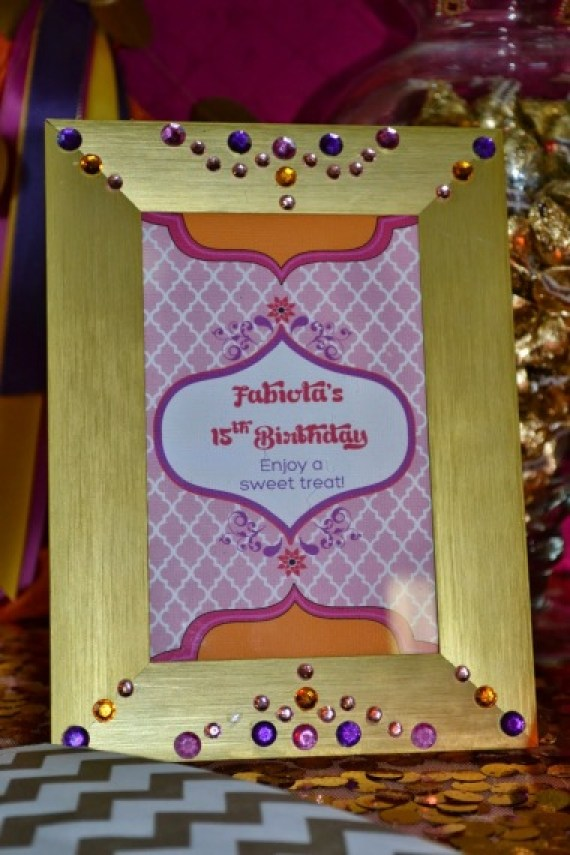 gold-moroccan-teen-birthday-party-enjoy-a-sweet-treat-sign