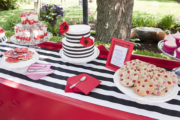 Poppy Party With Black Amp White Stripes Birthday Party