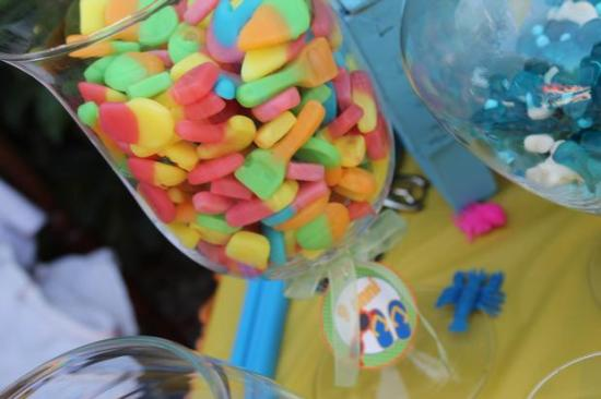Colorful Beach Birthday Party snacks lollies