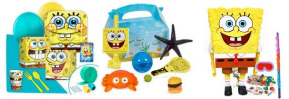 SpongeBob party decoration supplies