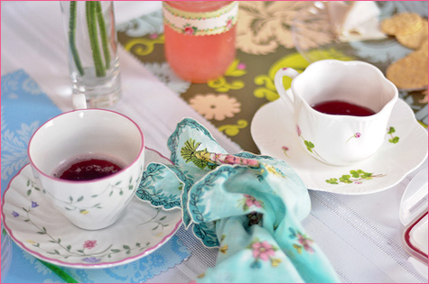 Vintage Inspired Tea Party decorations