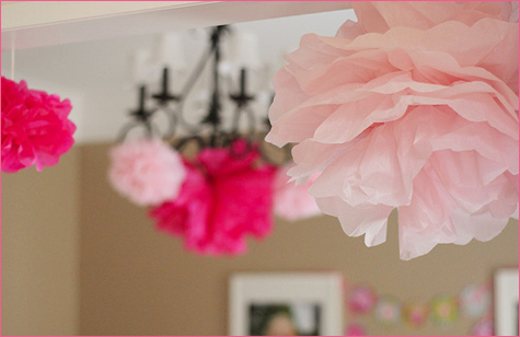 Vintage Inspired Tea Party poms