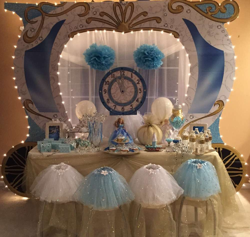 cinderella princess birthday party