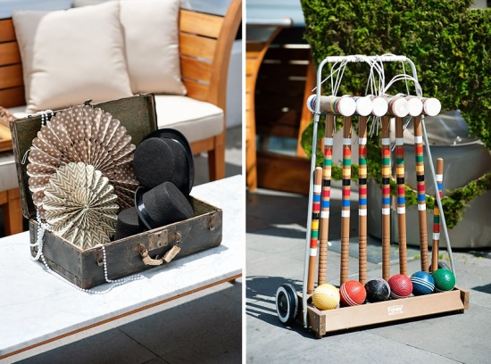Derby & Roaring Gatsby Birthday Party Activity and games - croquet