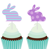 Free Easter Bunny Toppers