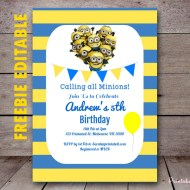 Free Minion Invitation